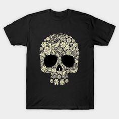 Floral Skull - Sleeping Beauty - T-Shirt | TeePublic