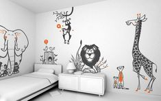 Lovely Uma Savanna Wall Decal Pack - Baby & Kids Wall Decals E-Glue - Children Room Wall Decor