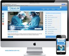 Nuestro último proyecto de página web. DESCAR de México. Ropa desechable para uso médico.  www.descar.com.mx #Medicos #paginaweb #cirugias
