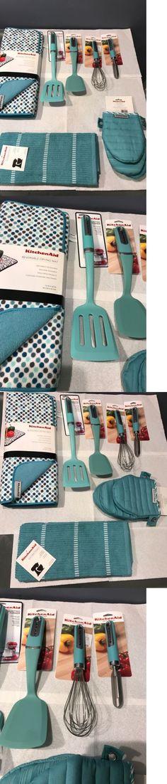 Cooking Utensils 20649: Kitchenaid Aqua Sky Blue Peeler Whisk Tuner Spatula  Towel Mats Mitt Set