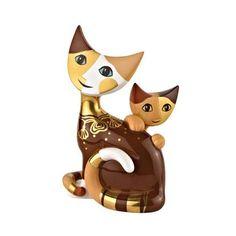 ISA E ILARIO Rosina Wachtmeister Cat Sculpture by Goebel