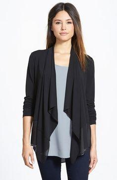 Eileen Fisher Sheer Hem Cascading Silk Cardigan (Regular & Petite) (Online Only) available at #Nordstrom