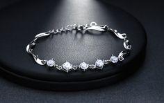 dámske náramky | LARISA - dámsky náramok osadený rakúskymi kameňmi (číre) - dĺžka: 20 až 25 cm | anion.sk - šperky, darčeky, klenoty, firemné darčeky, firemné prezenty, luxusné perá, značkové perá, luxus, perá faber-castell, perá cross, Tony Perotti, zapisnik, zapisniky Bracelets, Silver, Jewelry, Luxury, Jewlery, Jewerly, Schmuck, Jewels, Jewelery
