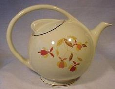 autumn leaf pattern.  We had dishware with this pattern but I don't think we had this teapot! How sad for us.