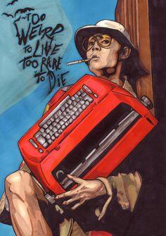 Hunter S. Thompson or Johnny Depp from Fear and Loathing in Las Vegas by ~Thestickibear Hunter S Thompson, Fear And Loathing, Psychedelic Art, Vegas Tattoo, Film Art, Art, Artsy, Movie Art, Street Art