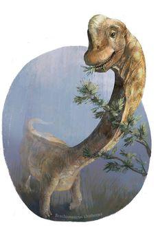 Brachiosaurus altithorax Art by ~meguskus