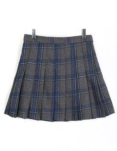체크주름,skirt