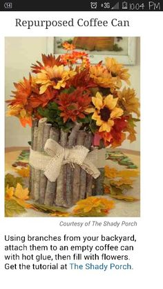 Cute centerpiece idea. DIY project