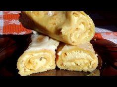 Clatite cu branza si smantana la cuptor | Farfuria vesela - YouTube Choux Pastry, Romanian Food, Waffles, Pancakes, Crepes, Make It Yourself, Breakfast, Mille Crepe, Mai
