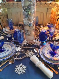 My Winter tablescape 2014