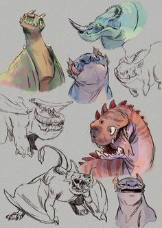 Dragons -sketchesHow my god, How to train your Dragon 2 is sooo goood! :)
