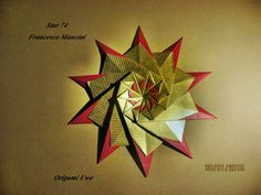 """Origami, Fleurogami e estrelas: Star """"74"""" - Francesco Mancini Diagramm The Fold 25"""
