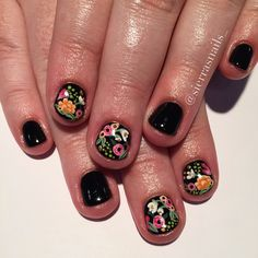 For when my nails get short again bcuz it certain will happen (stop the nail bit… – Fancy Nails Fancy Nails, Pretty Nails, Cute Nails, My Nails, Nagellack Trends, Manicure Y Pedicure, Hair Skin Nails, Flower Nails, Nagel Gel