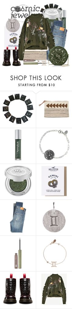 """cosmic gemini"" by spiceandsugar ❤ liked on Polyvore featuring Rip Curl, Urban Decay, Nashelle, Hollister Co., Citizens of Humanity, Pernille Corydon and Dr. Martens"