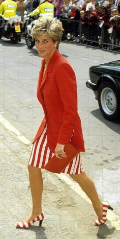 Diana in red and white 1991: