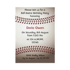 Baseball Game Birthday Invitations and Supplies