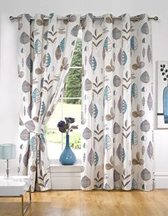 Kliving 65 X 54-Inch 70% Polyester 30% Cotton Floral Riva Lined Eyelet Curtains, Teal K LIVING http://www.amazon.co.uk/dp/B00A76SCJ8/ref=cm_sw_r_pi_dp_ujrQwb1SFKBS0