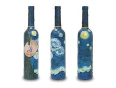 van gogh vodka bottle with painting images - Google Search