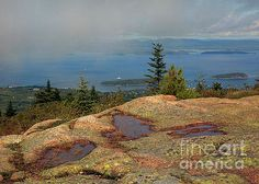 Karen Jorstad - View of Bar Harbor From Cadillac Mountain