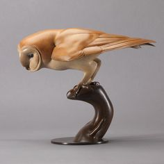 Barn Owl: A Beautiful, Life-size, Bronze Barn Owl Sculpture, by Sculptor, Nick Bibby