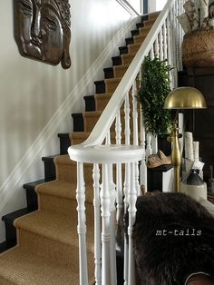 Oliver and Rust: A sisal stair runner story