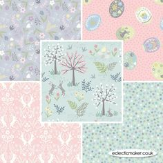 Lewis and Irene Fabrics - Salisbury Spring - Fabric Pack in Duck Egg