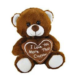 Teddy Bear I love you more than Coffee