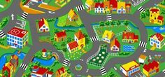Rug 'Little Village' (Big) Wall Sticker, Kids Rugs, Happy, Home Decor, Citizenship, Education, Amazon, Big, Products