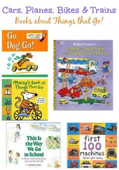 Kids Books about Trains, Boats, Planes and Things that Go are great for long car rides!
