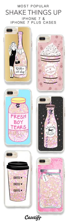 Most Popular Shake Things Up iPhone 7 Cases & iPhone 7 Plus Cases. More glitter iPhone case here >  https://www.casetify.com/en_US/collections/iphone-7-glitter-cases#/