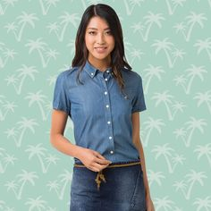 We love our Bailey Denim Shirt and this short sleeve version is perfect for summer.☀️  Available from Cargo Crew here http://www.cargocrew.com.au/uniform-tops/tops-collections/bailey-denim-shirts.html  |   Seen here with the Workers denim waist apron available at http://www.cargocrew.com.au/aprons/waist-aprons/workers-waist-apron-indigo-denim.html