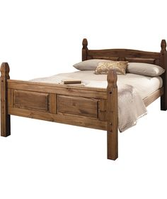 Buy Puerto Rico Double Bed Frame - Dark Pine at Argos.co.uk - Your Online Shop for Bed frames.