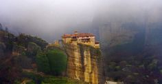 24 Dwellings Perched So Precariously, They're Guaranteed To Make You Dizzy | Distractify. Pictured: Meteora Monasteries, Greece