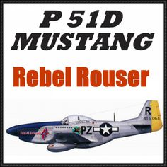 North American P-51D Mustang Fighter (Rebel Rouser) Free Aircraft Paper Model Download - http://www.papercraftsquare.com/north-american-p-51d-mustang-fighter-rebel-rouser-free-aircraft-paper-model-download.html