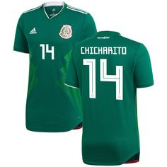 214da1ad1ff Javier Hernandez  14 Mexico 2018-2019 Home Jersey New