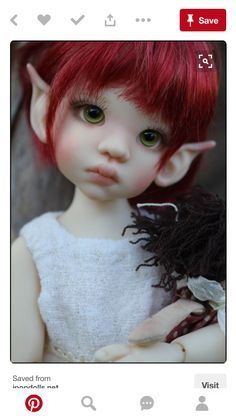 Ball Jointed Dolls, wigs, shoes and clothes Weird Creatures, Magical Creatures, Fantasy Creatures, Hansel Y Gretel, Elf Art, Fairy Pictures, Elves And Fairies, Fairy Figurines, Baby Fairy
