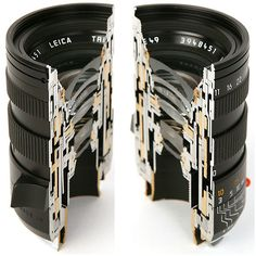 cross section view of Leica lens