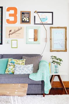 Hang a gallery wall made up of all your favorite prints.   21 Easy DIY Projects To Decorate Your Grown Up Apartment