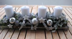 Adventskranz - ♥ wiederverwendbarer Adventskranz mit Kerzen ♥  - ein Designerstück von Sternenglanz-Clemens bei DaWanda