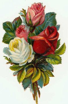 Victorian Flowers Sticker.....❤