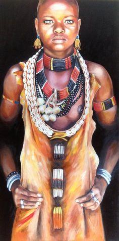 "Oil painting by Rebecca Tecla ""The Beauty of Black Women"""