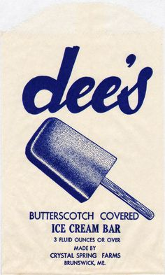 Vintage Ice Cream Bar...