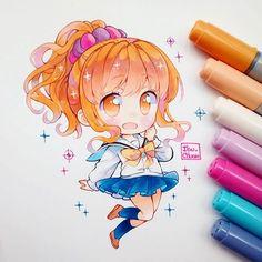 Megumi Jinno, anime: Eromanga sensei. Ella me parece un personaje algo peculiar, me agrada y desagrada a ratos qwq me confunde. Fue medio difícil pintar y combinar colores en cabello naranjo, casi exploto, rara vez uso este color, el personaje que más lo había usado era para Hinata de Haikyuu... Hablando de el, extrano dibujar esa pelusa naranja X'D #eromangasensei #megumijinno #traditional #kawaii #moe #cute #seifuku #copicciao #copicmultilinier #bristolpaper #chibi #chibiart #instadraw