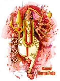 Indian Goddess Durga sculpture for Durga Puja holiday festival of India in Dussehra Vijayadashami Navratri — Stock Illustration Indian Goddess, Durga Goddess, India Images, Festivals Of India, Durga Puja, Holiday Festival, Deities, Vector Design, Birds In Flight