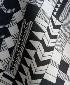 Hand drawn Fabric by Kimsa3, via Flickr