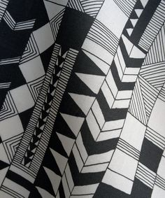Hand drawn Fabric by Kimsa3, via Flickr