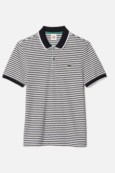 Lacoste striped polo shirt.