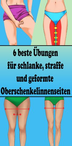 6 best exercises for slender, tight and shaped inner thighs - Gesundheit - health & fitness Fitness Workouts, Fitness Motivation, Exercise Motivation, Dos Gras, Diets Plans To Lose Weight, Coconut Health Benefits, Reduce Cellulite, Health Challenge, Inner Thigh