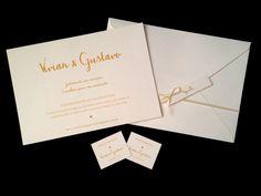 Convite casamento clássico   Canela Papel   Elo7
