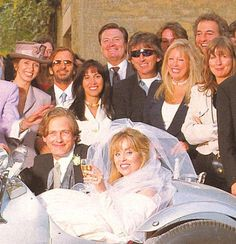 Ringo, George and both Olivia Harrison & Pattie Boyd attend the 1993 wedding of Marjorie Bach to Lord Alexander Rufus Isaacs. Marjorie has since gone on to marry Joe Walsh.